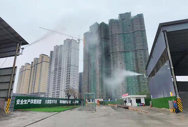 四川立柱喷雾设备安装成功案例