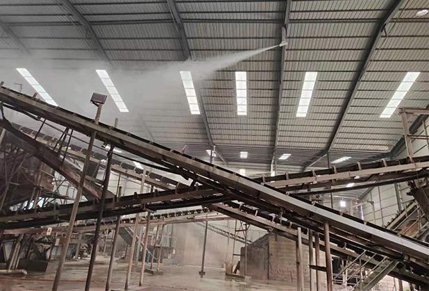 四川料场喷雾降尘设备销售成功案例