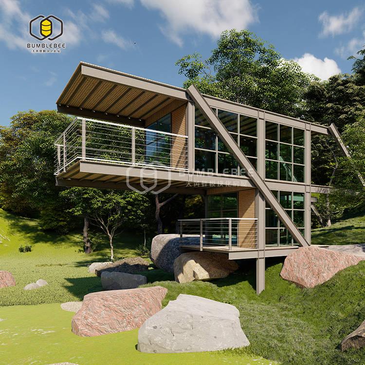 贵州组合式商务现代风主题集装箱民宿酒店定做提供设计方案