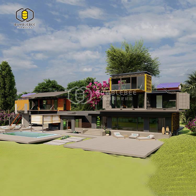 德阳装配式花园集装箱餐厅设计规划 野外度假村 农家乐一站式打造 户外酒吧