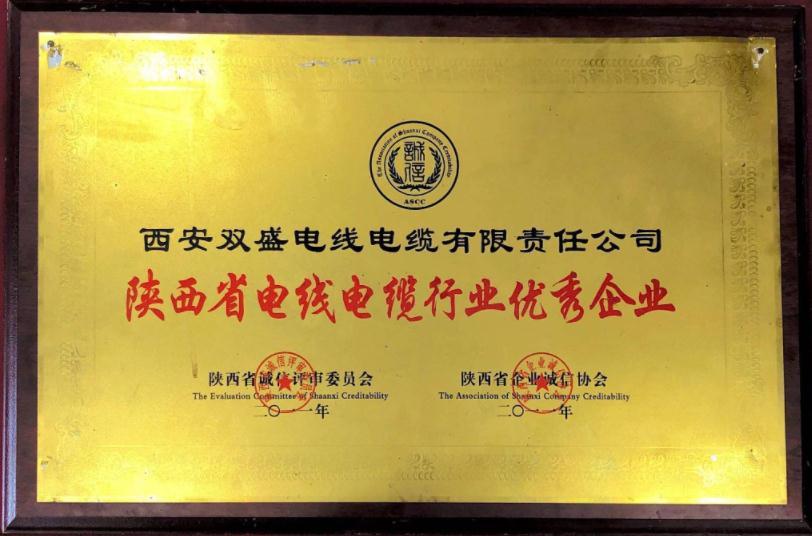 陕西省电线电缆行业优 秀企业