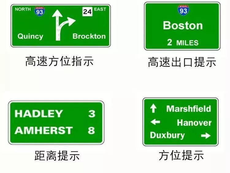 绿色指路标志