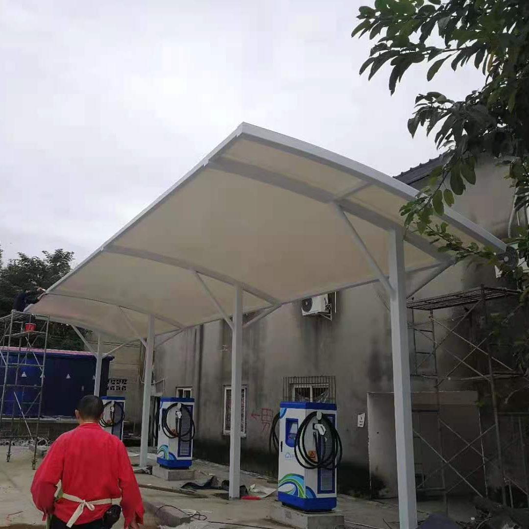 四川膜结构车棚施工