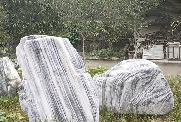 四川汉白玉园林景观石