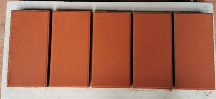 红色通体透水砖