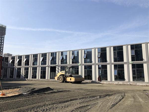 曲江建设集科教园两层打包箱办公楼项目