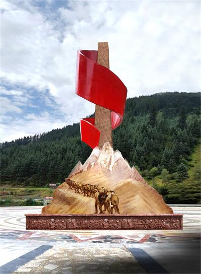 刷经寺镇雕像