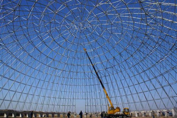 球形网架安装时候需要注意哪些事项?