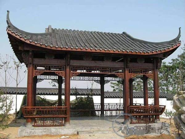 古建水榭亭