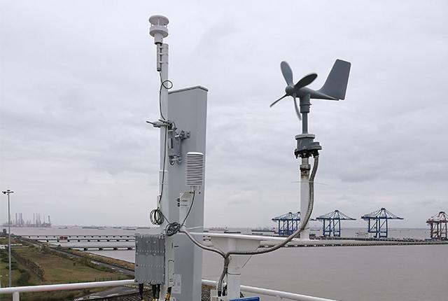 两要素超声波气象传感器海洋监测现场应用图片