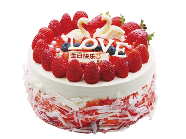 LOVE草莓蛋糕