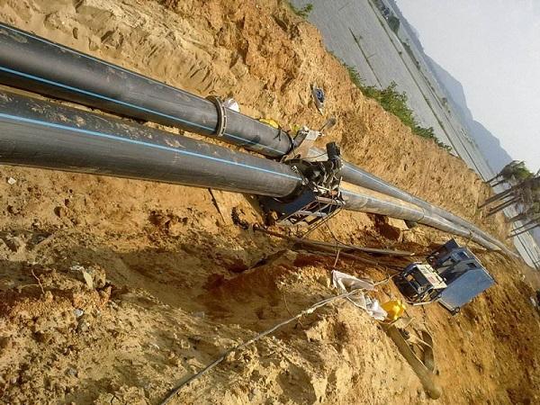 主管道110 PE给水管施工案例