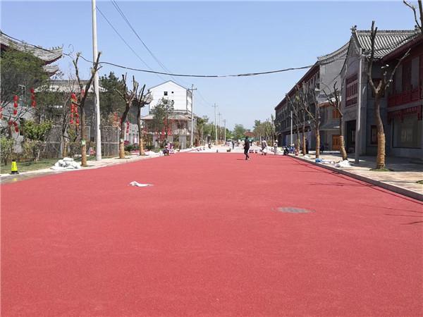 古镇景区彩色路面
