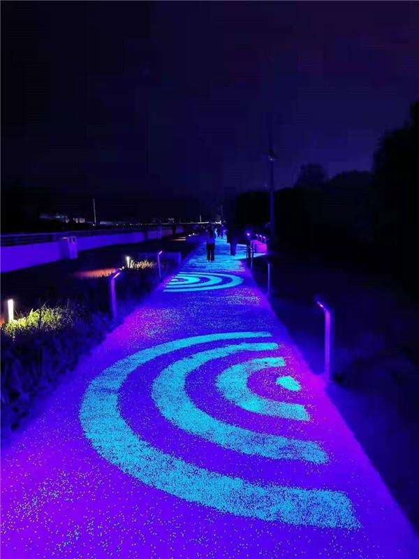 网红桥荧光路面