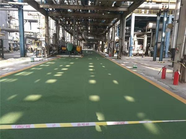 厂区绿色通道彩色路面