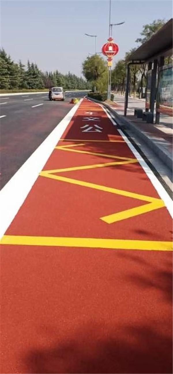 城市公交车站彩色陶瓷防滑路面