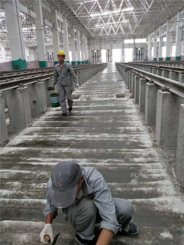 西安引镇地铁四号线运营库环氧树脂砂浆施工