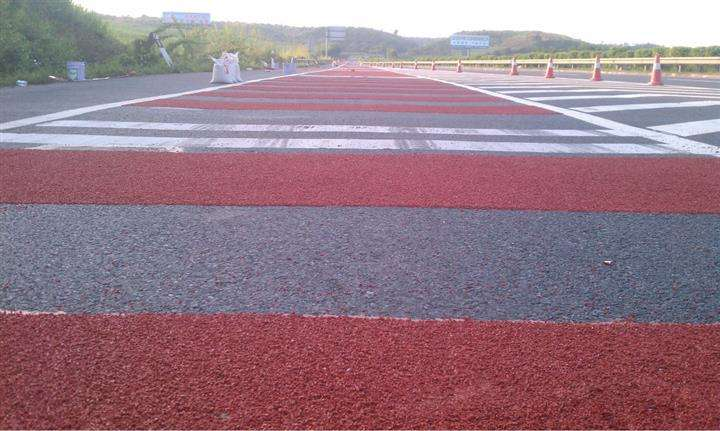 陕西彩色防滑路面可代替水泥路面