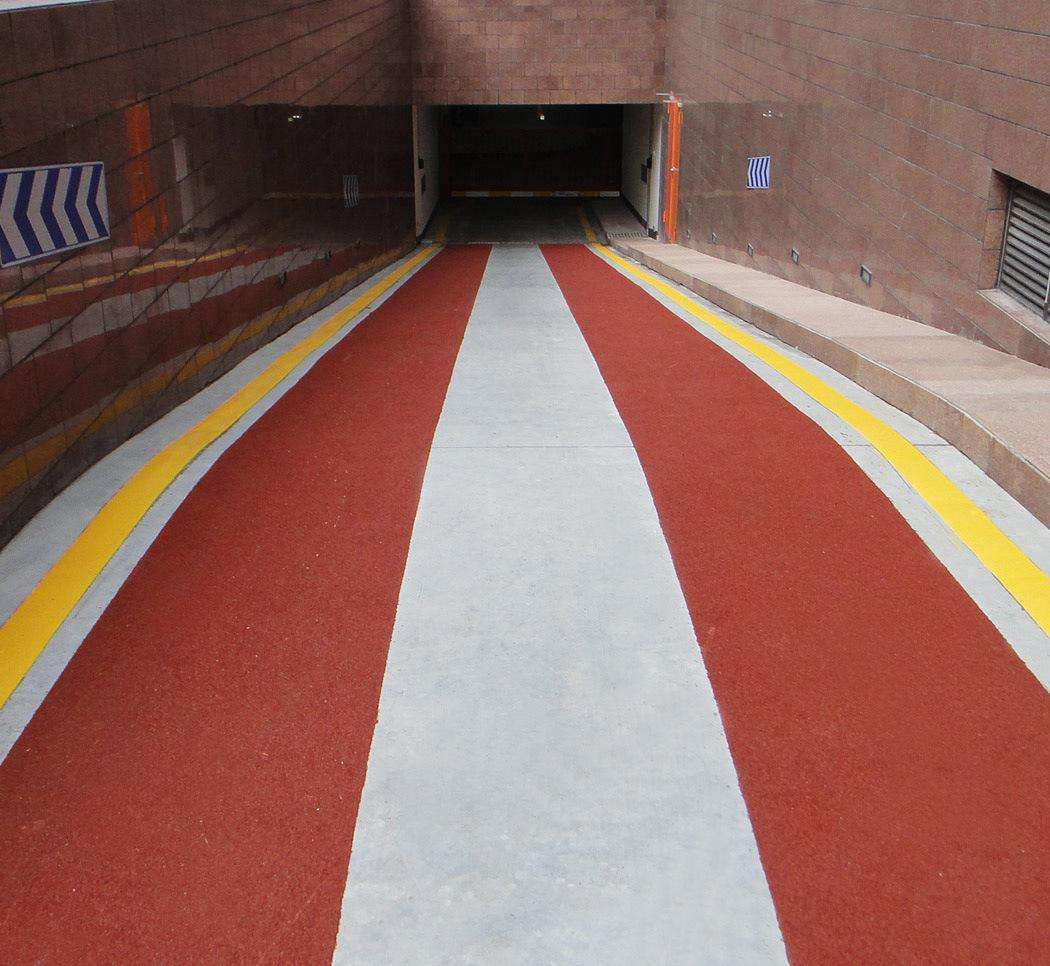 车库出入口防滑坡道做法介绍