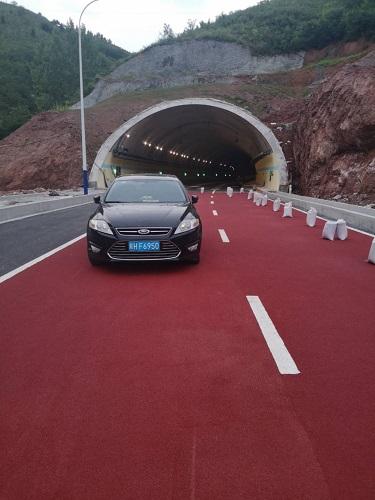 商洛隧道口彩色陶瓷颗粒防滑路面