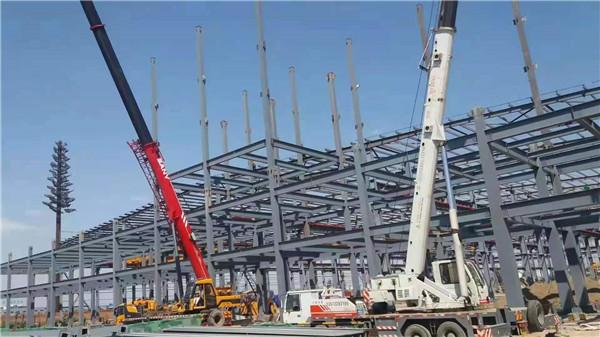 西安東南鋼結構網架施工案例