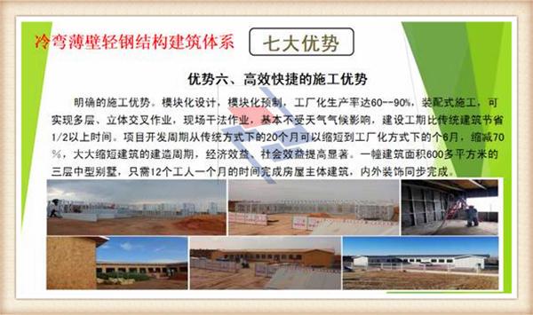 轻钢结构别墅生产