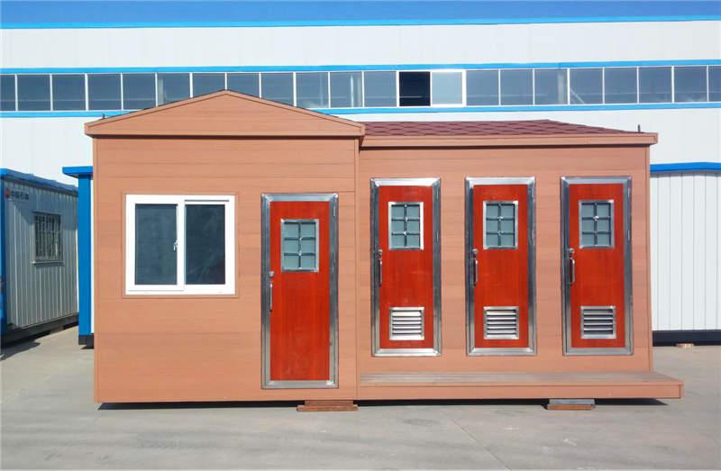 西安轻钢结构房屋--移动环保卫生间