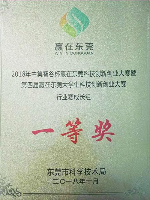 赢在东莞-创业大赛行业赛成长组一等奖