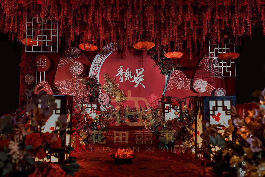 兰州红色主题室内传统中式婚礼