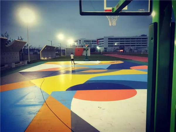高新三十一小学网红硅PU 篮球场