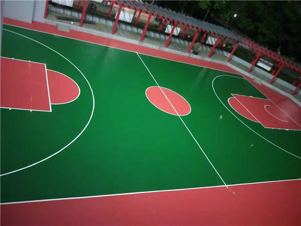南三环消防队硅PU篮球场