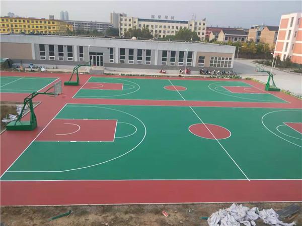 蓝田职教中心干PU篮球场