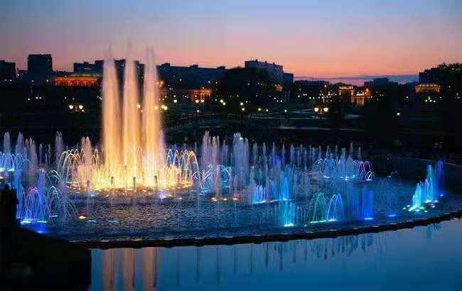 山西离石某广场喷泉