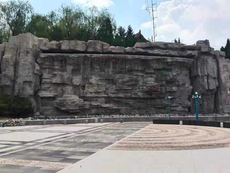 离石某公园水泥假山