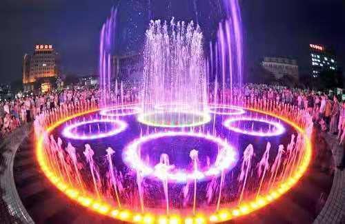 孝义某广场喷泉