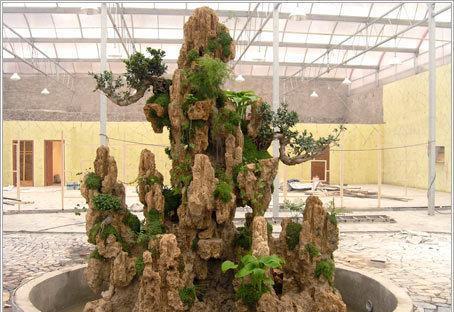 室内假山喷泉