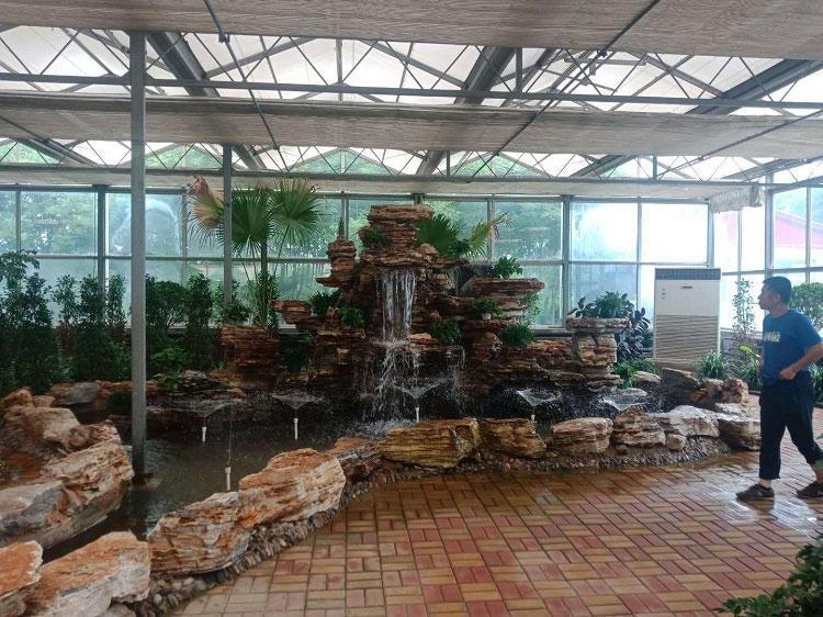 太原小店温室假山流水喷泉