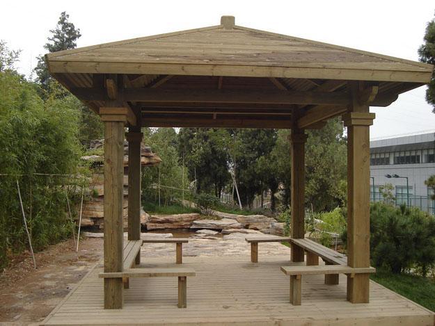公园防腐木