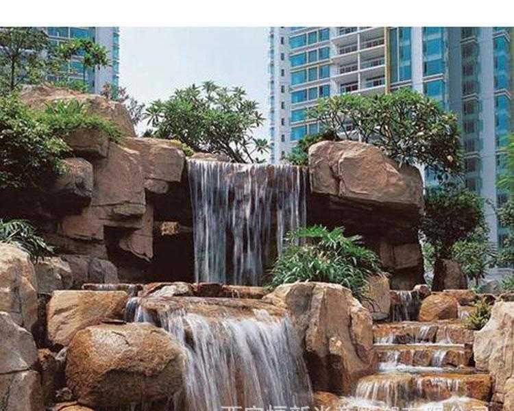 小区假山喷泉