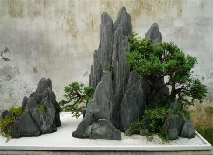 太原假山制作厂家:房间内假山盆景制做流程-鸿艺假山