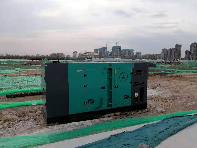 西安400kw发电机出租案例-中国建筑