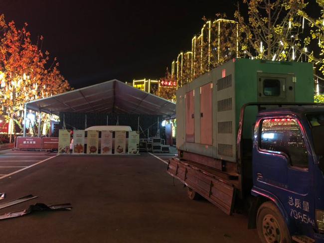 西安发电机租赁与世园大公馆项目合作