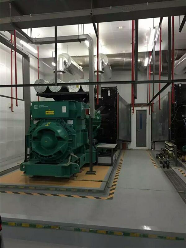 西安华为软件园地下柴油发电机房噪音治理