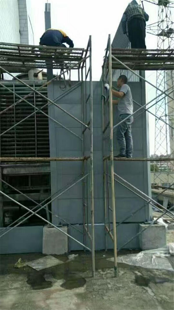 西安纺织城东园饭店冷却塔隔音处理