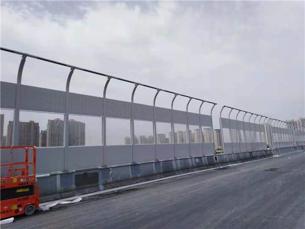 西安昆明路立交桥声屏障安装