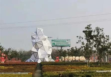 菱形雕塑造型