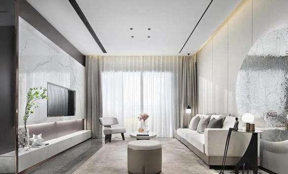 122㎡室内设计现代简约风格,尽显优雅高级格调
