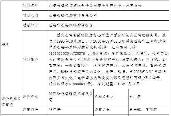 西安长鸣包装有限责任公司