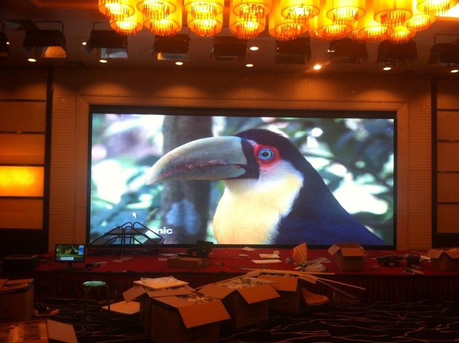 郑州华美达大酒店室内LED显示屏案例