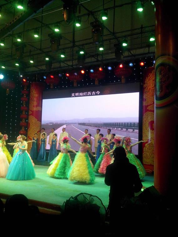汝阳县广播电视台室内全彩LED显示屏案例